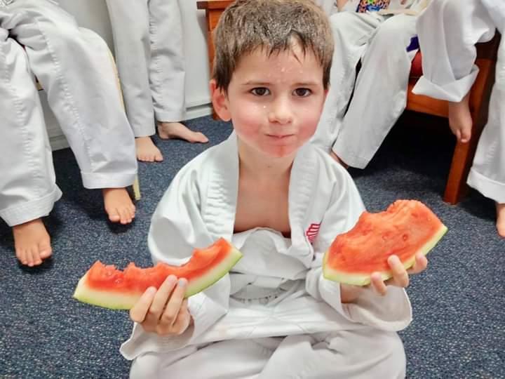 karate kids fruit break
