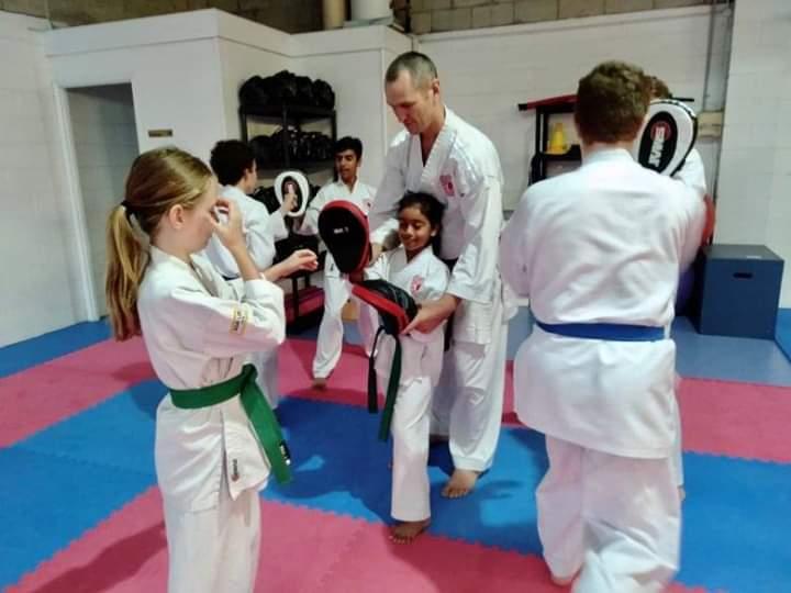 karate focus mitts training