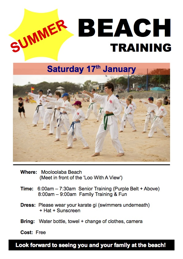 Jan - Summer Beach Training
