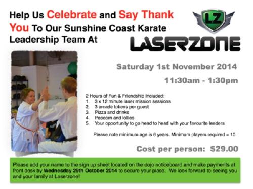 Laserzone Sunshine Coast Karate
