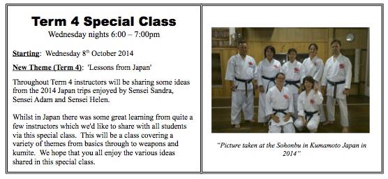 Special Class Term 4 2014