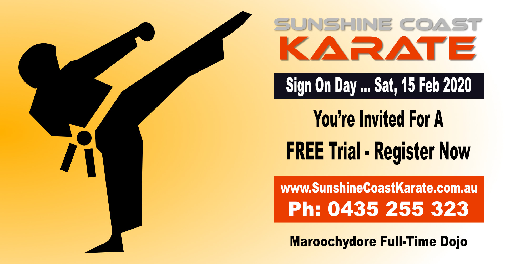Karate Sign On Day (2020) - FREE Trial